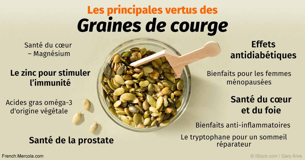 Découvrez tous les bienfaits incroyables des graines de courge! Vous allez être agréablement surpris!