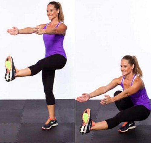 """les squats """"pistolet"""" pour des jambes plus fortes"""