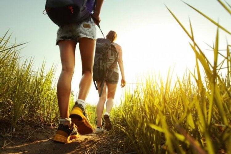 randonnée dans la nature et camping